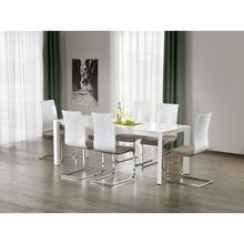 Nowoczesny Stół rozkładany STANFORD XL 130x80 biały Halmar do kuchni.