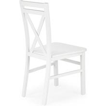 Stylowe Krzesło drewniane skandynawskie DARIUSZ II białe Halmar do kuchni, salonu i restauracji.