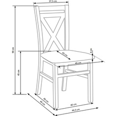 DARIUSZ krzesło biały / tap: Inari 23