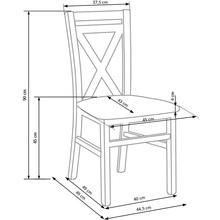 Klasyczne Krzesło drewniane DARIUSZ II dąb sonoma Halmar do kuchni, salonu i jadalni.