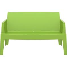 BOX SOFA zielona tropikalna