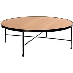 Okrągły stolik kawowy Tre 90 dąb/czarny