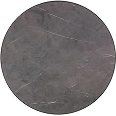 Okrągły stolik kawowy Tre 60 marmur/czarny