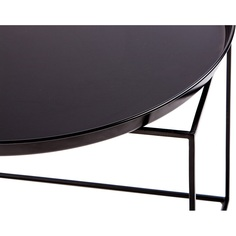 Okrągły stolik Ramme 50 czarny