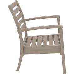 Krzesło ARTEMIS XL szarobrązowe