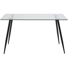 Szklany stół Wilma 140 przeźroczysty/czarny