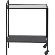 Wózek barowy Seaford Czarny/Szkło D2.Design