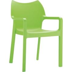 Krzesło DIVA zielone tropikalne
