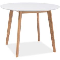 Okrągły stół Mosso III 100 biały Signal
