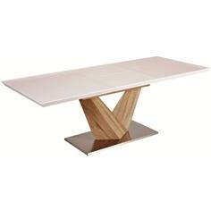 Stół Alaras dąb sonoma + biały lakier