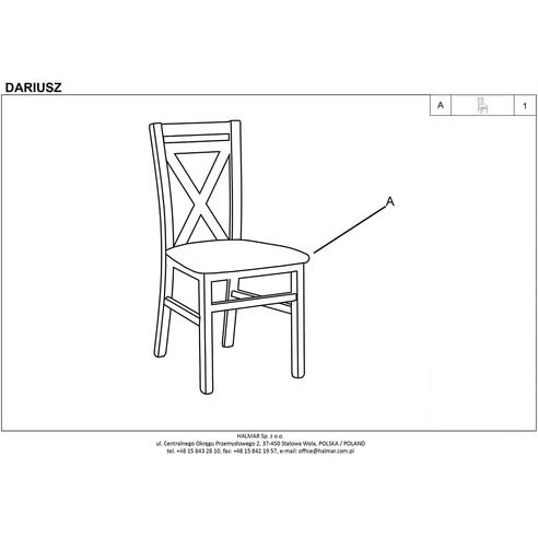 Krzesło drewniane skandynawskie DARIUSZ II białyolcha Halmar