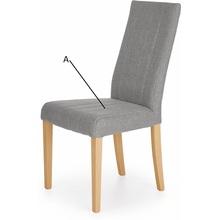 Klasyczne Krzesło tapicerowane na drewnianych nogach DIEGO dąb sonoma Halmar do kuchni, salonu i jadalni.