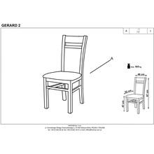 Klasyczne Krzesło drewniane tapicerowane GERARD2 dąb sonoma Halmar do kuchni, salonu i jadalni.