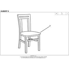HUBERT8 krzesło dąb sonoma / tap: Inari 23