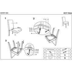KERRY BIS krzesło wenge/ciemny brąz