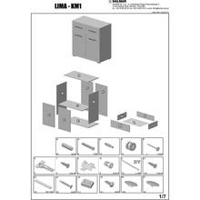 LIMA KM-1 komoda dąb sonoma / biały