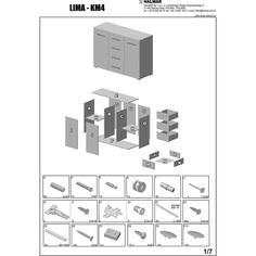 LIMA KM-4 komoda dąb sonoma / biały