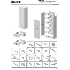 LIMA REG1 regał dąb sonoma / biały