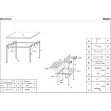 MALCOLM zestaw stół + 4 krzesła wenge