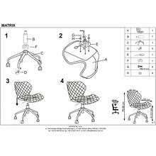 MATRIX fotel młodzieżowy biały / popiel