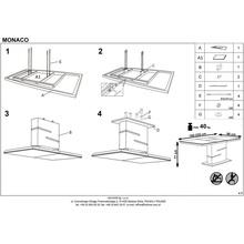 Stół rozkładany na jednej nodze MONACO 160x90 biały/beton Halmar do kuchni.
