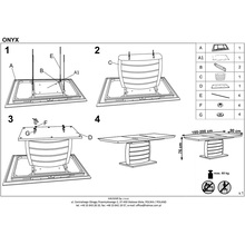 Stół rozkładany na jednej nodze ONYX 160x90 biały Halmar do kuchni.