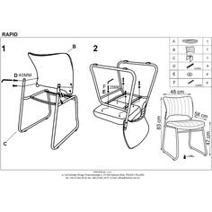 RAPID fotel pracowniczy/konferencyjny czarny