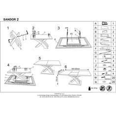 SANDOR 2 stół czarny