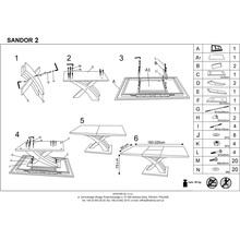 Stół rozkładany szklany SANDOR II 160x80 popiel/biały Halmar do kuchni.