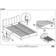 SANDY łóżko tapicerowane biały