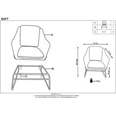 SOFT fotel popiel