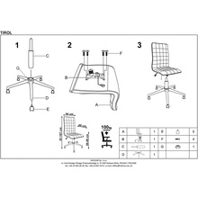 Krzesło biurowe obrotowe TIROL czarny Halmar do biurka.