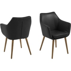 Krzesło z podłokietnikami Nora czarne Actona
