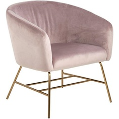 Fotel tapicerowany Ramsey VIC Gold różowy Actona