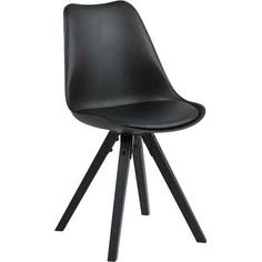 Krzesło Dima z tworzywa czarne Actona