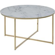 Okrągły stolik kawowy Alisma 80 złoty Actona
