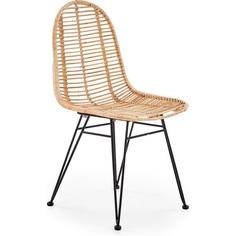Rattanowe krzesło K337 jasny brąz Halmar