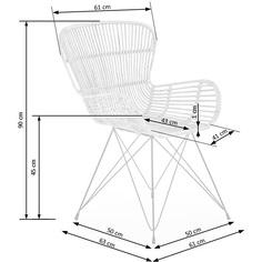 Rattanowe krzesło K335 jasny brąz Halmar