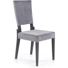 Tapicerowane krzesło Sorbus grafitowe Halmar