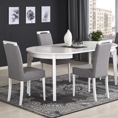Rozkładany stół Sorbus II 100 biały Halmar