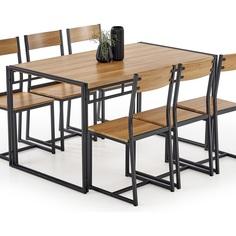 Zestaw stół z krzesłami Bolivar dąb złoty Halmar