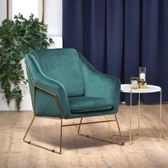 Tapicerowany fotel wypoczynkowy Soft III ciemno zielony Halmar