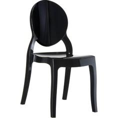Krzesło ELIZABETH lśniące czarne