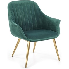 Tapicerowany fotel wypoczynkowy Elegance II ciemno zielony Halmar