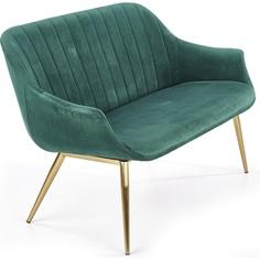 Tapicerowana sofa wypoczynkowa Elegance II ciemno zielony Halmar