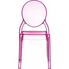 Krzesło ELIZABETH różowe przezroczyste