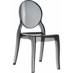 Krzesło ELIZABETH czarne przezroczyste