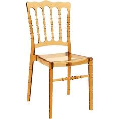Krzesło OPERA bursztynowe przezroczyste