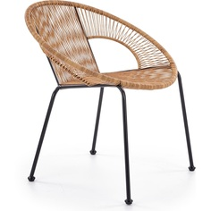 Fotel rattanowy Bari brązowy Halmar