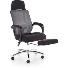 Fotel biurowy z podnóżkiem Freeman czarny Halmar
